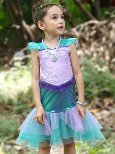 Ariel Cosplay disfraces de Halloween Disney Little Girls sirena vestidos