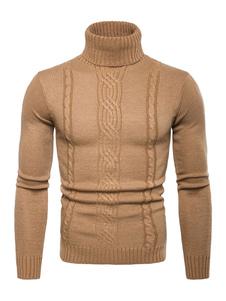 Image of Maglione 2019 Pullover e Maniche Lunghe in Maglione e Collo Alto