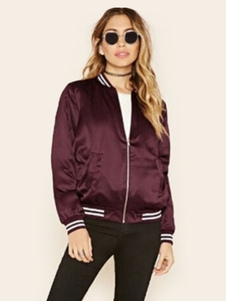 Image of Giacca da donna Bomber Jacket Stand Collar Giacca a maniche lung