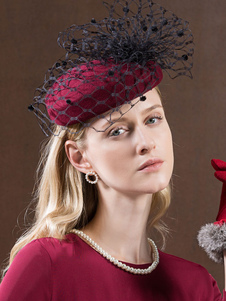 Image of Costume Carnevale Cappello di lana retrò Cappello in feltro bord