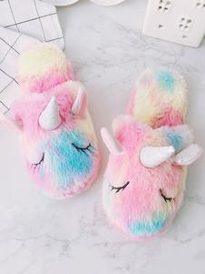 Image of Pantofole da donna unicorno per la casa Pantofole invernali per