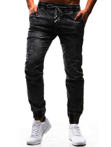 Image of Jeans Uomo Denim Nero Distressed Tapered Fit per Uomo
