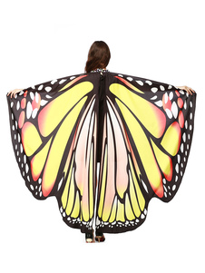 Image of Monarch Butterfly Wings Costume Capo Giallo Adulto Halloween Acc