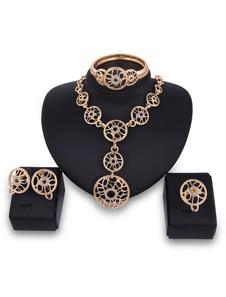 Image of Set di gioielli in oro Collana con ciondoli Orecchini con ciondo