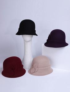 Image of Costume Carnevale Cappello in lana con cappello a cloche Cappell