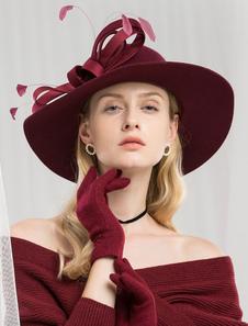 Image of Cappello di lana retrò Cappello di moda invernale Cappello di pi