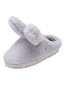Image of        Pantofole invernali grigie Pantofole da donna con ciabattine in