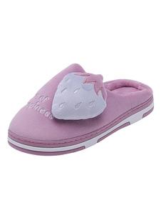 Image of        Pantofole donna casa pantofole peluche punta rotonda motivo a fr