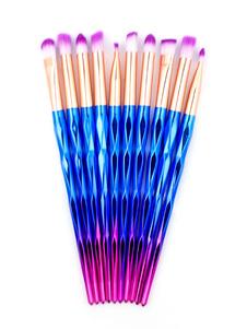 Image of La spazzola professionale di trucco mette il corredo blu della s