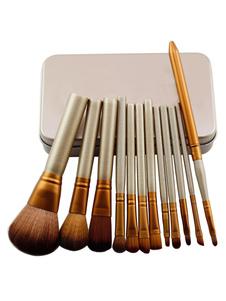 Image of Set di pennelli per trucco soft in legno in 12 pezzi