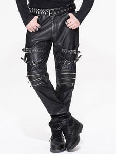 Image of Pantaloni Costume Gothic Steampunk Uomo Fibbie Nero Bottoms Hall