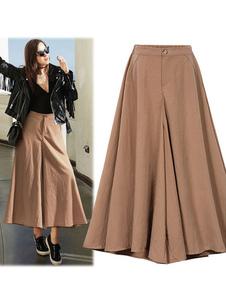 Image of Pantaloni larghi delle donne dei pantaloni dei pantaloni a gamba