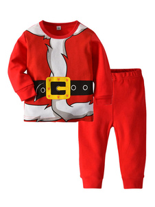 Image of Costumi di Natale Bambini Pigiama Rosso Babbo Natale Cosplay Top