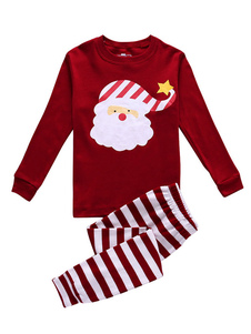 Image of Bambini in pigiama di Natale Holiday Girls Boys Rosso Babbo Nata