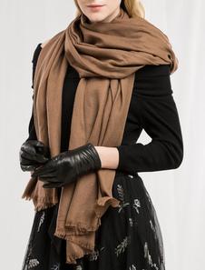 Image of Sciarpa coperta di lana Sciarpa lunga oversize in marrone