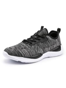 Image of Sneakers uomo Mesh Round Toe Lace Up Scarpe da corsa Scarpe spor