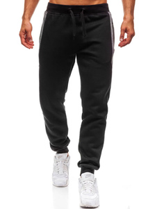 Image of        Pantalone Jogger da uomo in cotone elasticizzato con coulisse