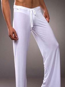 Image of Pantalone per pigiama da uomo Salotto in seta al latte con panta