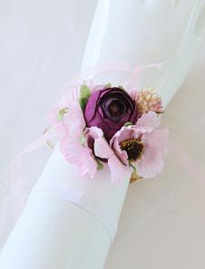 Image of Braccialetto da sposa Corpetto da sposa Fiore Braccialetto gioie