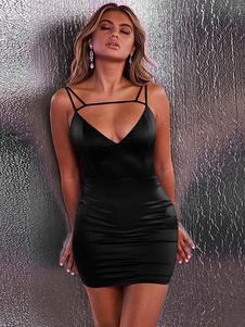 Image of Abito sexy aderente Abito corto senza maniche Abito con spalline