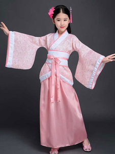 Image of Hanfu Costume cinese Bambina bambino tradizionale abbigliamento