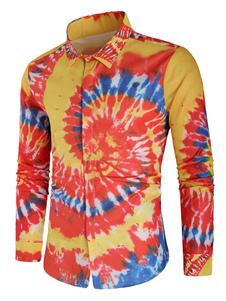 Image of Camicia a maniche lunghe da uomo con camicia elasticizzata con s