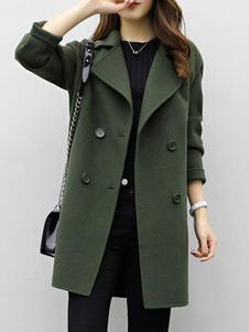 Image of Cappotto da donna Cappotto a maniche lunghe Cappotto a maniche lunghe con cappuccio verde