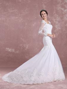Image of Abito da sposa in abito da sposa Mermaid Abito da sposa Abito da sposa Abito da sposa Abito da sposa con cappella