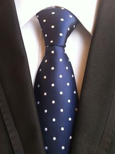 Image of Cravatta abito formale a pois ora di poliestere