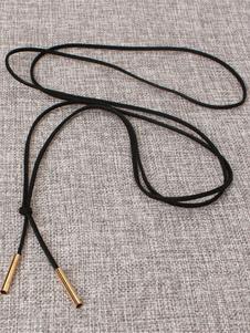 Image of Collana del Choker dell'oro Collana a strati della pelle scamosciata del Faux delle donne