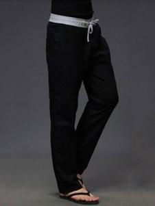 Image of        Pantalone 2019  lungo gamba dritta uomo pantaloni casual neri