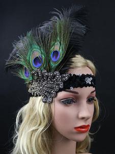 Image of Accessori vintage Costume flapper piuma fascia 1920s Carnevale