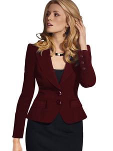 Image of Giacca donna giacca corta pulsanti Abito Casual Slim Fit