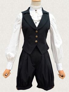 Image of Abiti Lolita classico nero gilet e Shorts Abiti Lolita