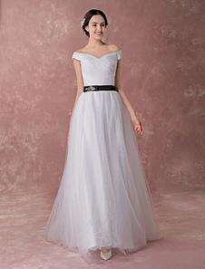 Romántico vestido de novia de encajes de estilo dulce