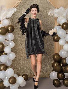 1920 vestido de traje Gatsby vestido de la aleta del vestido de las borlas de la vendimia 2018