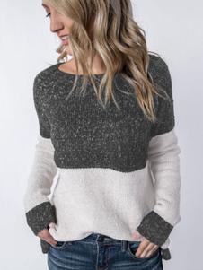 Image of Pullover donna Pullover manica lunga con scollo tondo manica lun