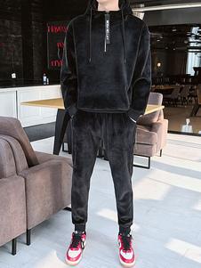 Image of 2 pezzi Sportswear Uomo Felpa con cappuccio in velour con stampa
