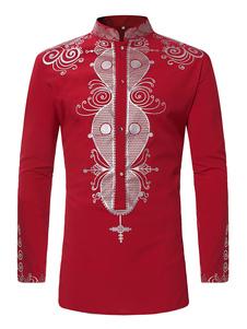 Image of Camicia a maniche lunghe Camicia casual da uomo con colletto e s