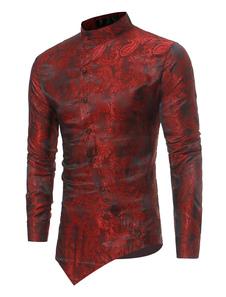 Image of Camicia a maniche lunghe 2020 Camicia in jacquard con colletto i