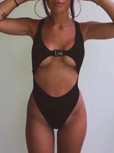 Image of Costume da Bagno 2019 Monokini Nero Tagliato Costume da Bagno Se