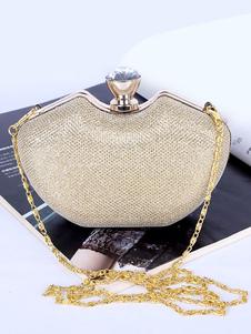 Image of Pochette da sposa in oro strass borse da sposa accessori da spos