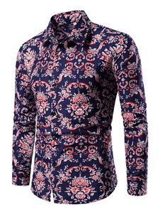 Image of Camicia casual da uomo. Camicia a maniche lunghe slim fit con st