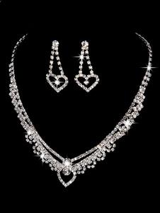Image of Set di gioielli da sposa Orecchini di perle d'oro Collana di