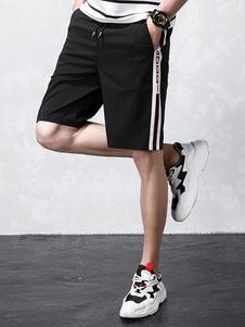Image of Pantaloncini sportivi estivi da uomo in poliestere con elastico