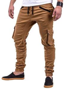 Image of Pantalone lungo uomo con collo tapered in cotone