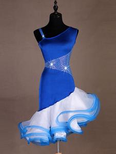 Image of Abiti da ballo latino Abiti da donna blu royal Vestito da ballo