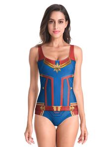 Image of Costume da supereroe da donna 2019 Costumi da bagno della tuta i