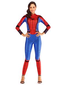 Image of Costume da supereroe donna Royal Blue Spiderman Tuta in polieste
