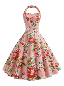 Image of Abito da donna vintage rockabilly vestito vintage anni '50